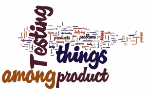 Testing - product among things, things among product 2