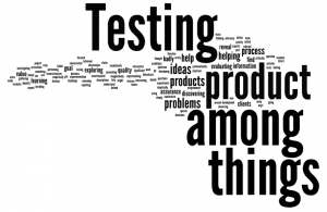 Testing - product among things, things among product