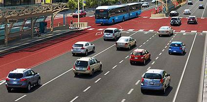 multi-lane highway